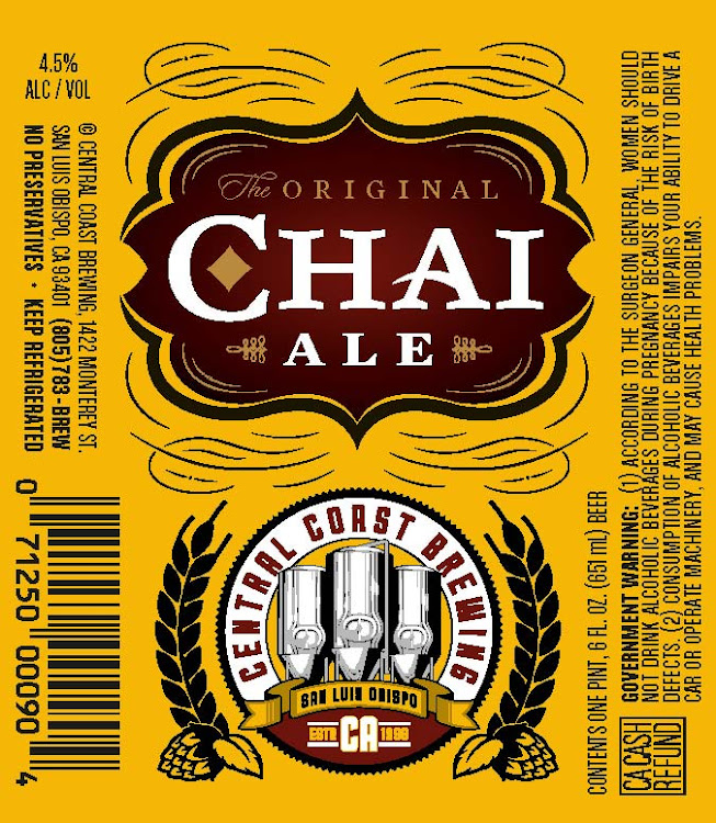 Logo of Central Coast Brewing Chai Ale