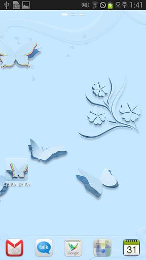 藍色蝴蝶動態壁紙