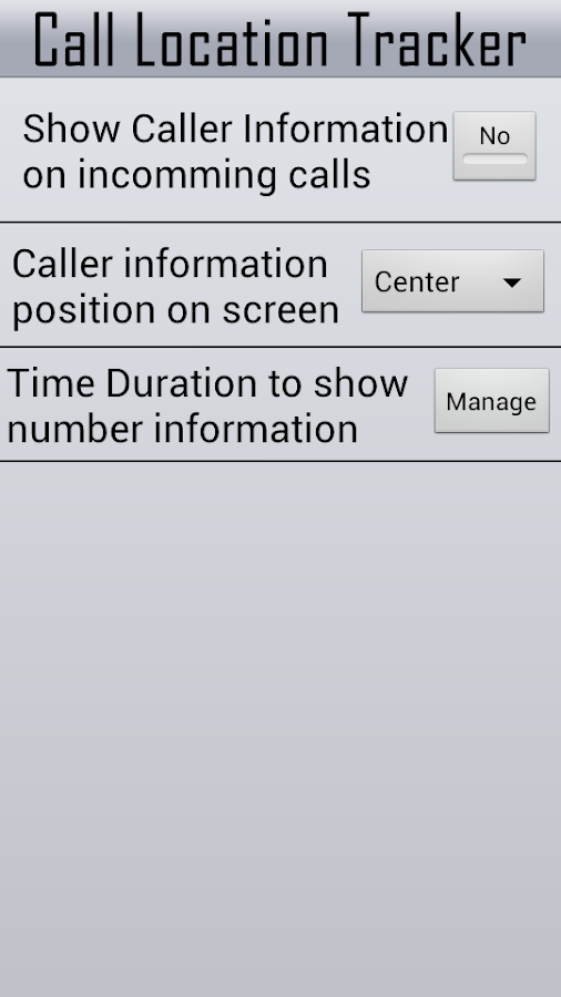 Mobile Number Call Tracker - screenshot