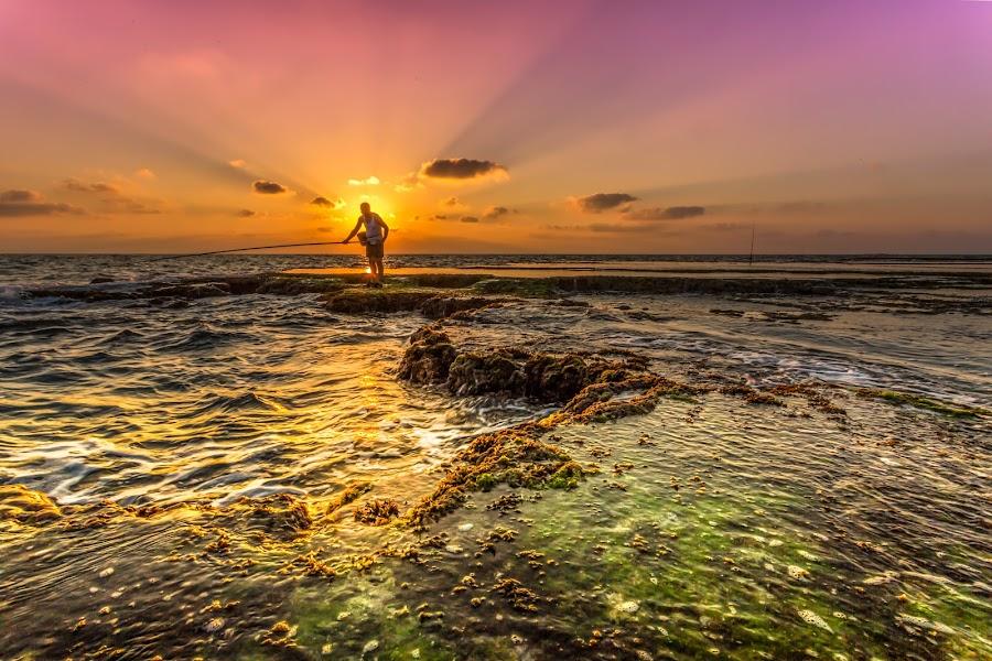 by Assi Dvilanski - Landscapes Sunsets & Sunrises ( fishermen, sunset )