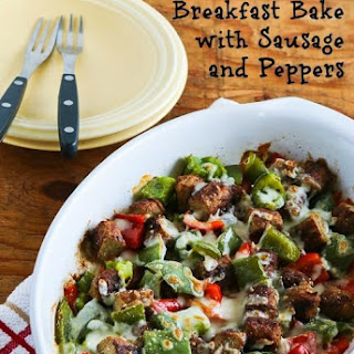 Low-Carb No Egg Breakfast Bake with Turkey Breakfast Sausage and Peppers