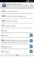 Screenshot of Medical Abbreviations EN