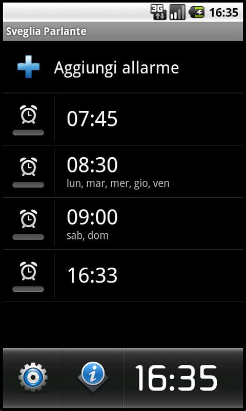 Talking Alarm Clock - screenshot