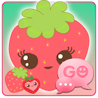 GO SMS Sweet Strawberry Theme icon