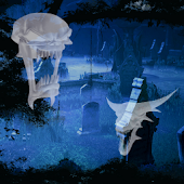 Ghost Halloween Cemetery