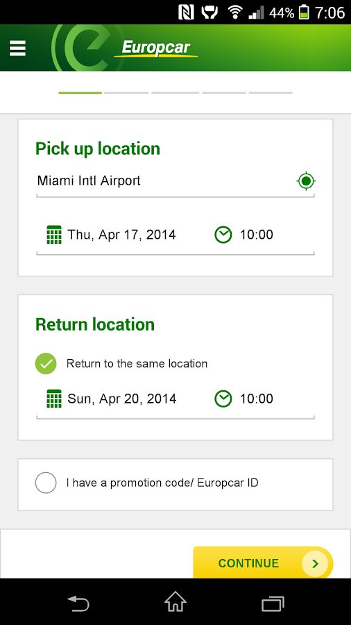 Europcar – Car Rental - screenshot