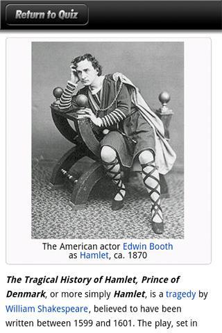 Ultimate Shakespeare Quiz- screenshot