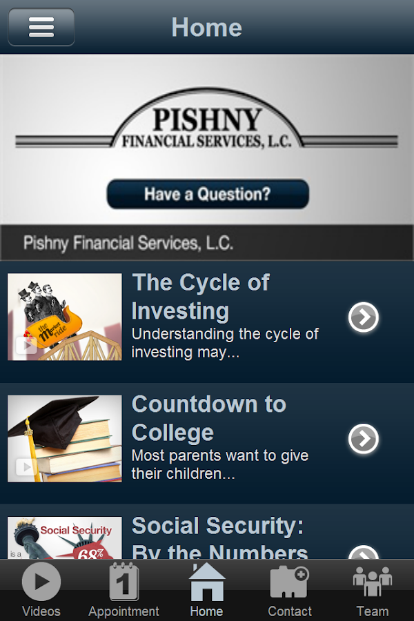 Pishny Financial Services- screenshot