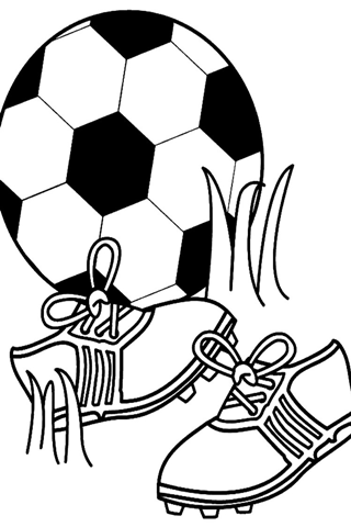 stickman soccer coloring