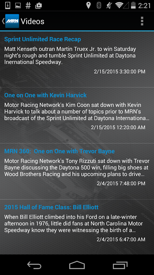 Motor Racing Network- screenshot