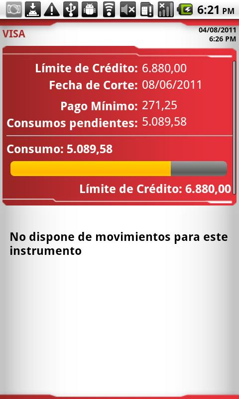 Banca Movil Banco Bicentenario - screenshot