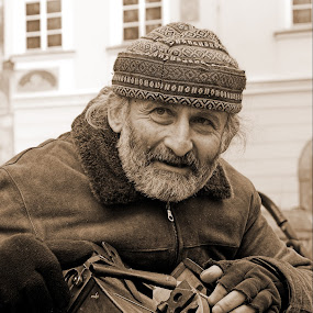 Busker in Prague by Marthinus Strydom - People Street & Candids ( streetphotography, czech, busker, musician, prague, man,  )