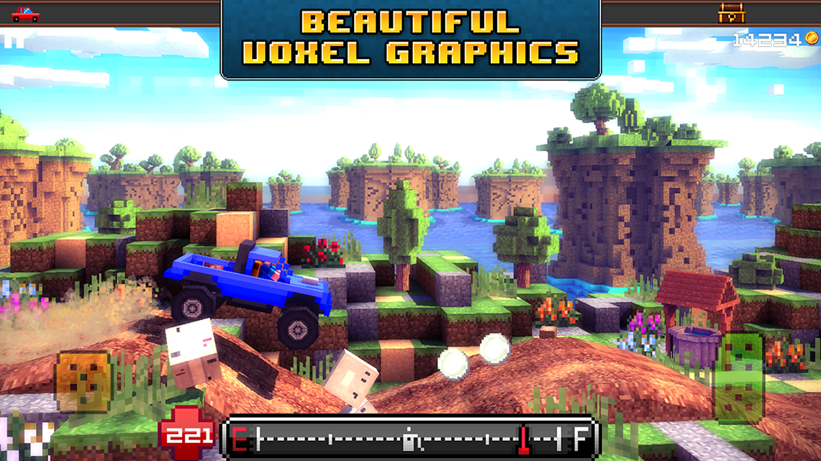 Blocky Roads - screenshot