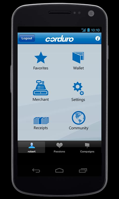 Corduro PayMobile- screenshot