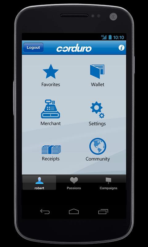 Corduro PayMobile- screenshot
