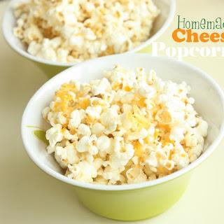 Homemade Cheesy Crunch Popcorn.
