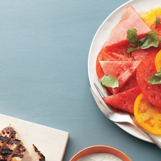 Yogurt-Marinated Chicken with Watermelon Salad