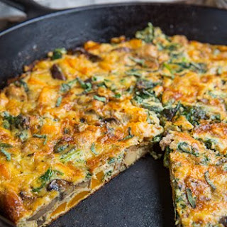 Butternut Squash, Mushroom, Kale and Sausage Frittata Recipe