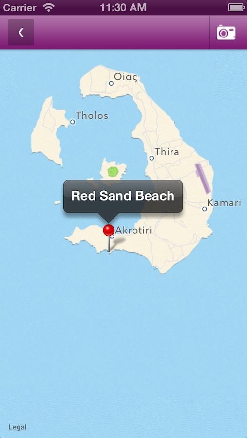 Santorini by myGreece.travel - στιγμιότυπο οθόνης