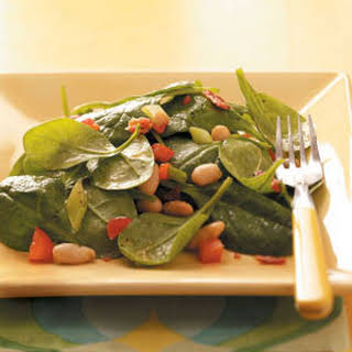 Spinach Bean Salad with Maple Dressing.