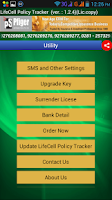 Screenshot of LifeCell Policy Tracker