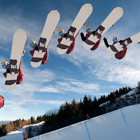 Jump sequence by Alexis Courthoud - Sports & Fitness Snow Sports ( snowboard, mountain, snow, snowboarder, jump )