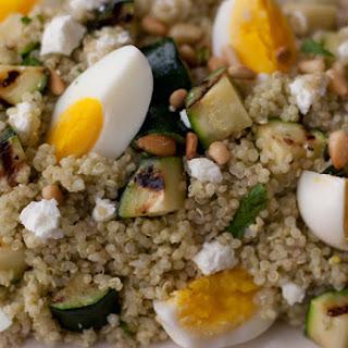 Quinoa and Grilled Zucchini.