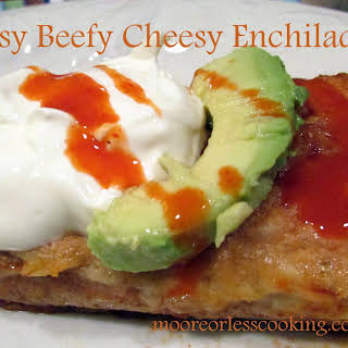 Easy Cheesy Beef Enchiladas.