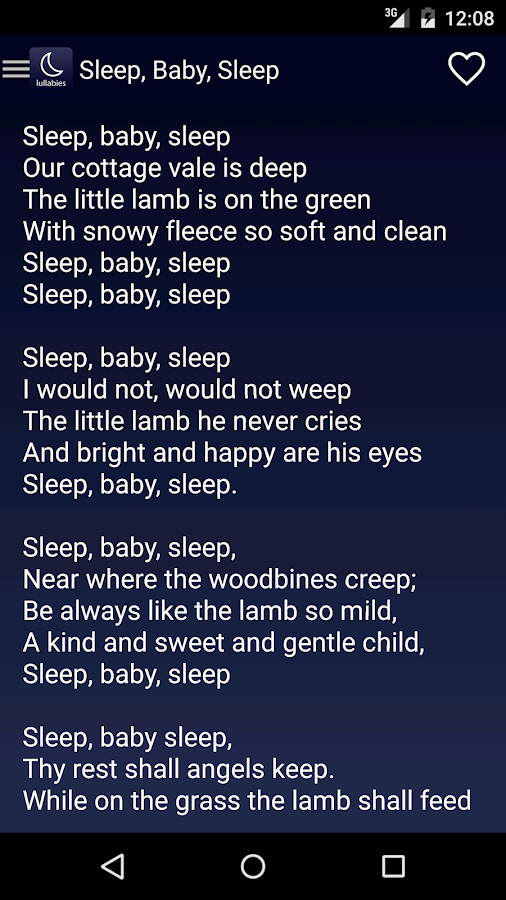 Lullaby Apps For Babies