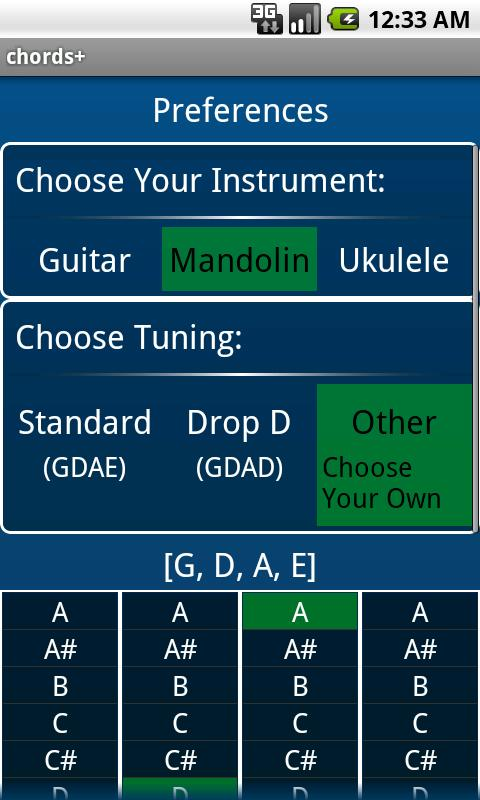 chords+ music tools- screenshot