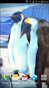 Penguins 3D Pro Live Wallpaper Screenshot
