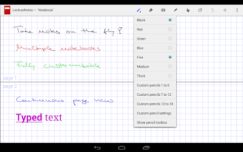 LectureNotes screenshot 0