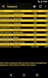 Hawkeye Football Schedule Screenshot 7