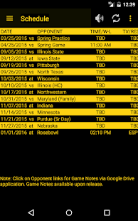 Hawkeye Football Schedule Screenshot 7