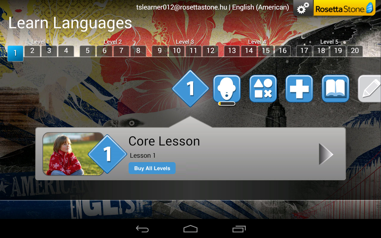 Rosetta stone learn english from korean to