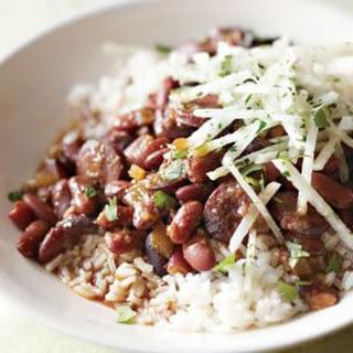 Spicy Red Bean & Chorizo Stew.