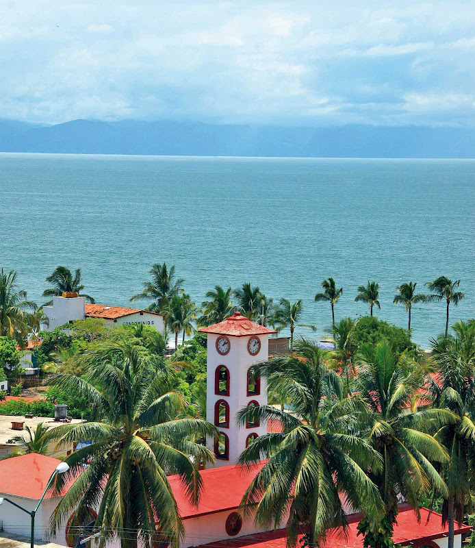 The pretty town of Bucerias, along Riviera Nayarit just north of Puerto Vallarta, Mexico.