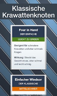 Krawatten binden - DEUTSCH - screenshot thumbnail