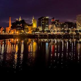 Liverpool Docklands by Ian Yates ヅ - City,  Street & Park  Night