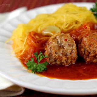 Stupid Easy Paleo Spaghetti Squash & Meatballs.