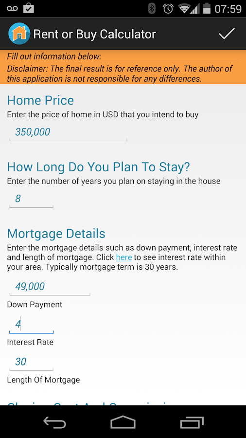 Rent or buy a home- screenshot