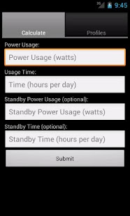 Power Cost Estimator - screenshot thumbnail