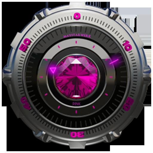 Clock Widget Pink Diamond