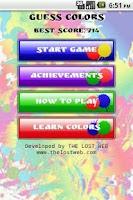 Screenshot of Guess Colors