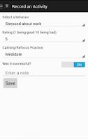 Screenshot of Behavior Therapy Tracker