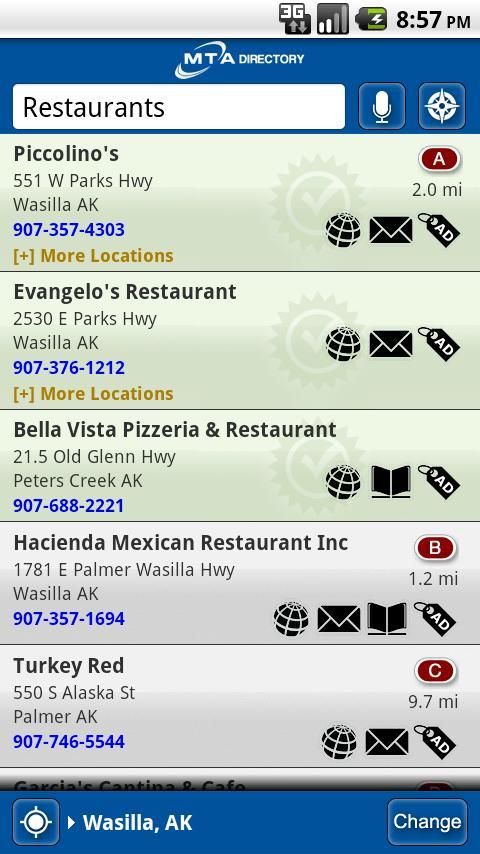 MTA Yellow Pages- screenshot
