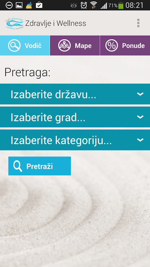 Zdravstveni i wellness vodič- screenshot