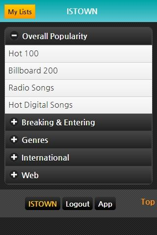 Billboard Charts, Music Songs - screenshot