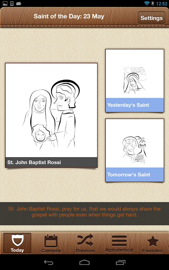Saint of the Day for Kids- screenshot