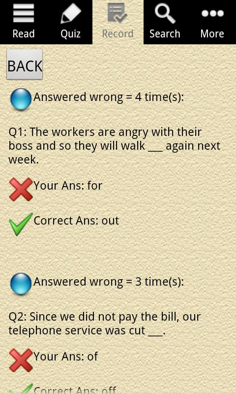 English Grammar – Phrasal Verb Screenshot 5